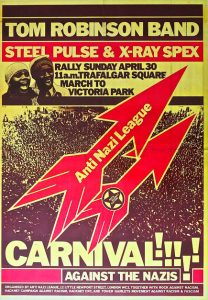 David Kings poster for the Anti-Nazi League carnival, 30 April 1978.