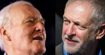 Fanning the flames of anger and hope, Jeremy Corbyn stands on the shoulders of Tony Benn