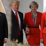 Trump and May hold hands